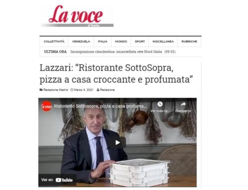 """Lazzari: """"Ristorante SottoSopra, pizza a casa croccante e profumata"""""""